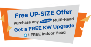 Free Up-Size Offer Promotion